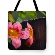 Trumpet Vine With Friend Tote Bag