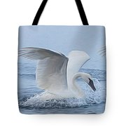 Trumpeter Swans Touchdown Tote Bag
