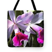 Trumpeting Purple Cattleya Orchids Tote Bag