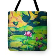 Trumpets And Lilies Tote Bag