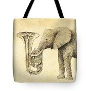 Tuba Tote Bag by Eric Fan