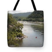 Tubing On The Potomac River At Harpers Ferry Tote Bag