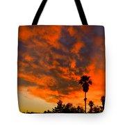 Tucson Arizona Sunrise Fire In The Sky Tote Bag