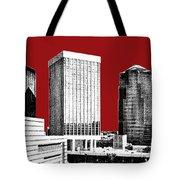 Tucson Skyline 1 - Dark Red Tote Bag
