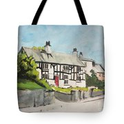 Tudor Cottage Cheshire England Tote Bag
