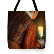 Tudor Man With Candle Tote Bag