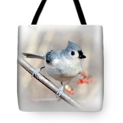 Tufted Titmouse Love  Tote Bag