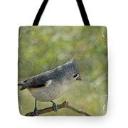 Tufted Titmouse With Decorations II Tote Bag