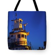 Tug Boat At Dawn, Cape Ann, Gloucester Tote Bag