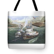 Gale Warning Safe Harbor Tote Bag
