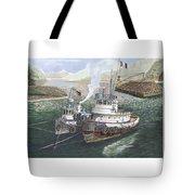 Gale Warning Safe Harbor Tote Bag