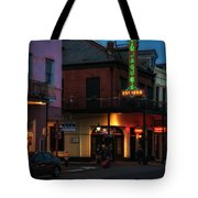 Tujagues At Night In New Orleans Tote Bag