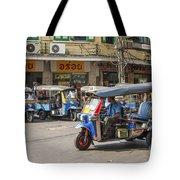 Tuk Tuk Taxis In Bangkok Thailand Tote Bag