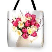 Tulip Blooms Tote Bag by Debra  Miller