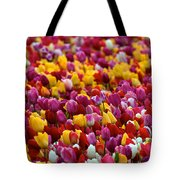 Tulip Bud Farm Portrait Tote Bag