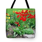 Tulip Gardenscape Tote Bag