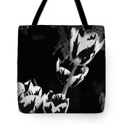 Tulip Group In Black And White Tote Bag