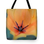 Tulip In Orange Tote Bag