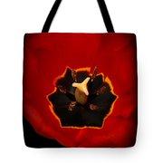 Tulip On Black Tote Bag
