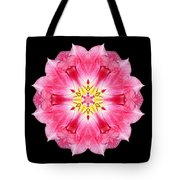 Tulip Peach Blossom IIi Flower Mandala Tote Bag