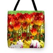 Tulip Stand In Mount Vernon Washington Tote Bag