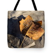 Tulip Tree Leaf - Frozen Raindrops In The Sunshine Tote Bag