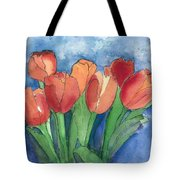 Tulips After The Rain Tote Bag