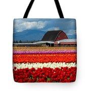 Tulips And Barn Tote Bag