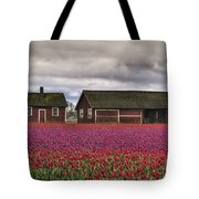 Tulips And Barns Tote Bag