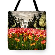 Tulips And Building Tote Bag