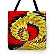 Tulips And Daffodils Polar Coordinates Effect Tote Bag