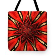 Tulips And Daffodils Under Star Glass Tote Bag