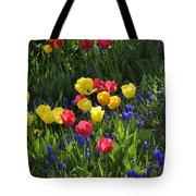 Tulips And Grape Hyacinths Tote Bag
