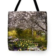 Tulips And Other Spring Flowers At Dallas Arboretum Tote Bag