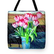 Tulips And Valentines Tote Bag