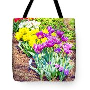 Tulips At Dallas Arboretum V65 Tote Bag