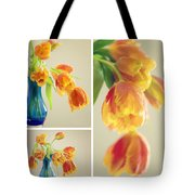 Tulips Collage Tote Bag