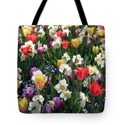 Tulips - Field With Love 58 Tote Bag