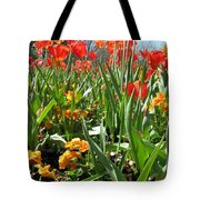 Tulips - Field With Love 64 Tote Bag