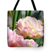 Tulips Flowers Garden Art Prints Pink Tulip Floral Tote Bag