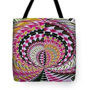 Tulips Hydrangeas Easter Lilies Daffodils Polar Coordinate Effect Tote Bag