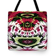 Tulips Hydrangeas Easter Lilies Polar Coordinate Effect Tote Bag
