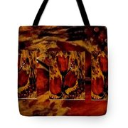 Tulips In Acryl Collage Tote Bag
