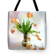 Tulips In An Old Silver Pitcher Tote Bag