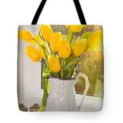 Tulips In Antique Jug Tote Bag