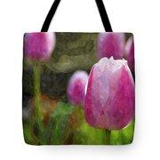 Tulips In Digital Watercolor Tote Bag