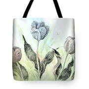 Tulips In Ink Tote Bag