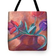 Tulips In Pitcher Tote Bag