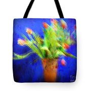 Tulips In The Blue Tote Bag