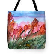 Tulips In The Wind Tote Bag